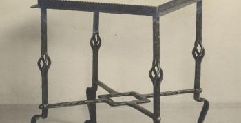 produktdesign-1946-norbert-schlagheck-geschmiedeter-tisch