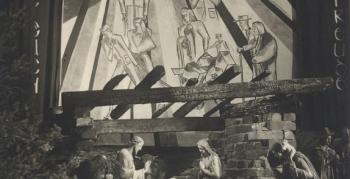 norbert-schlagheck-sakrale-grafik-folkwangschule-1950-krippenleinwand-beeck